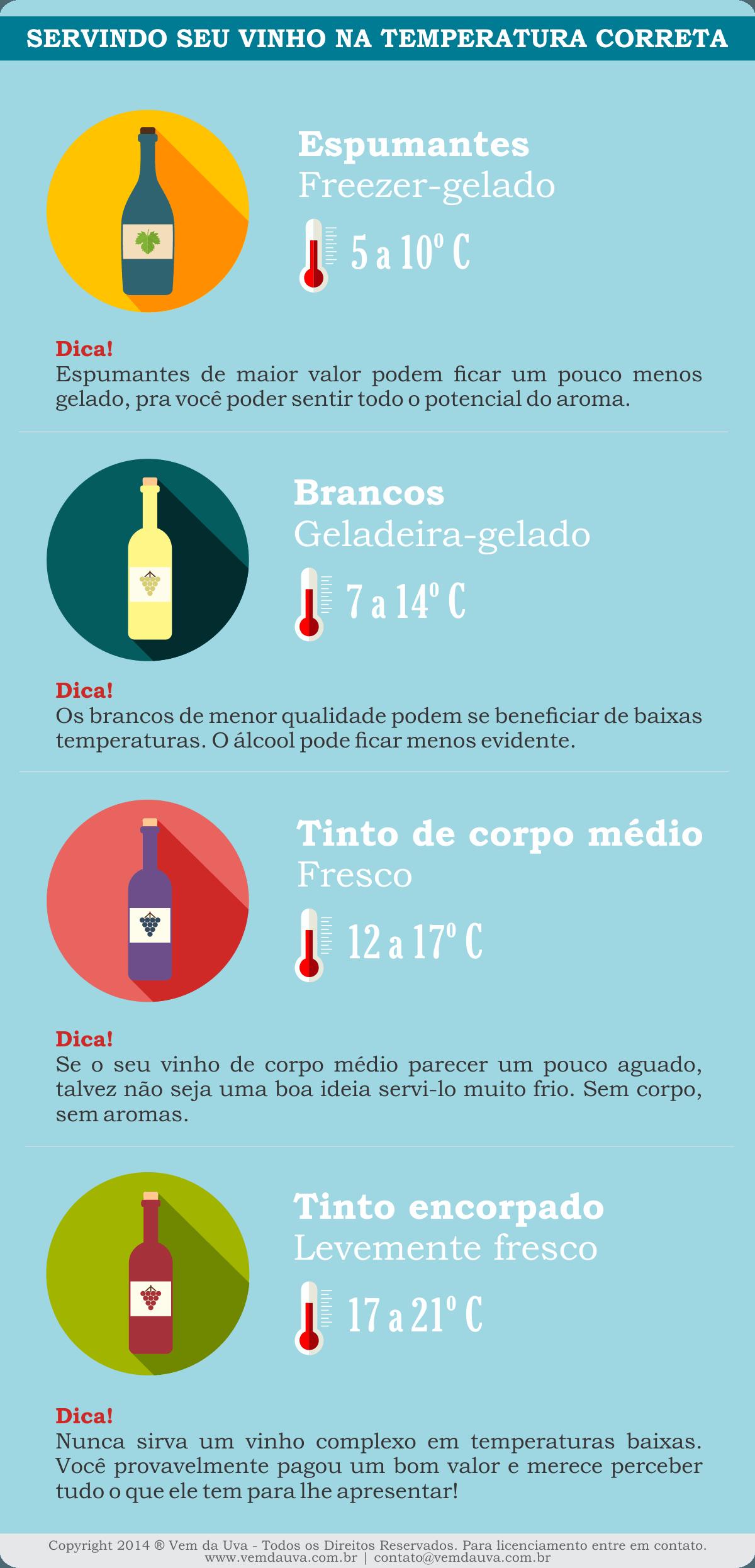 Infográfico Temperatura do Vinho