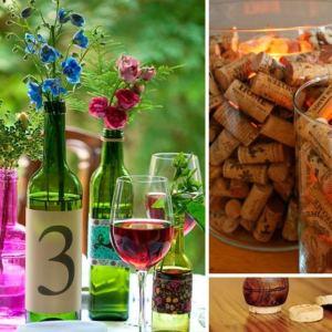 decoração com vinho