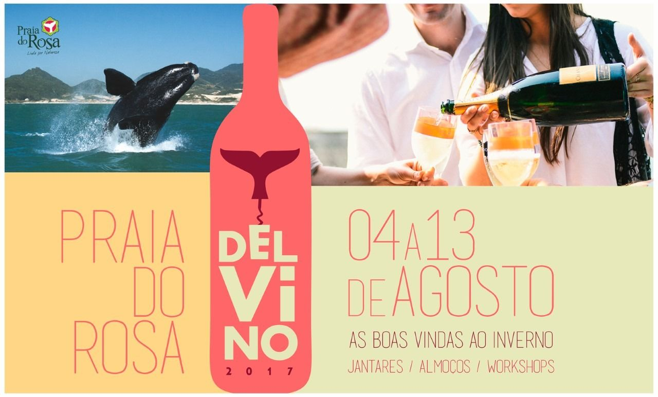 Praia do Rosa vira palco do quarto Agosto Del Vino e praia do rosa
