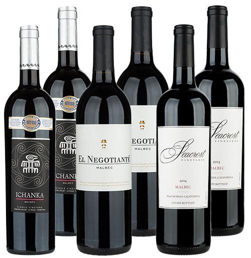 Exemplos de Vinhos Malbec