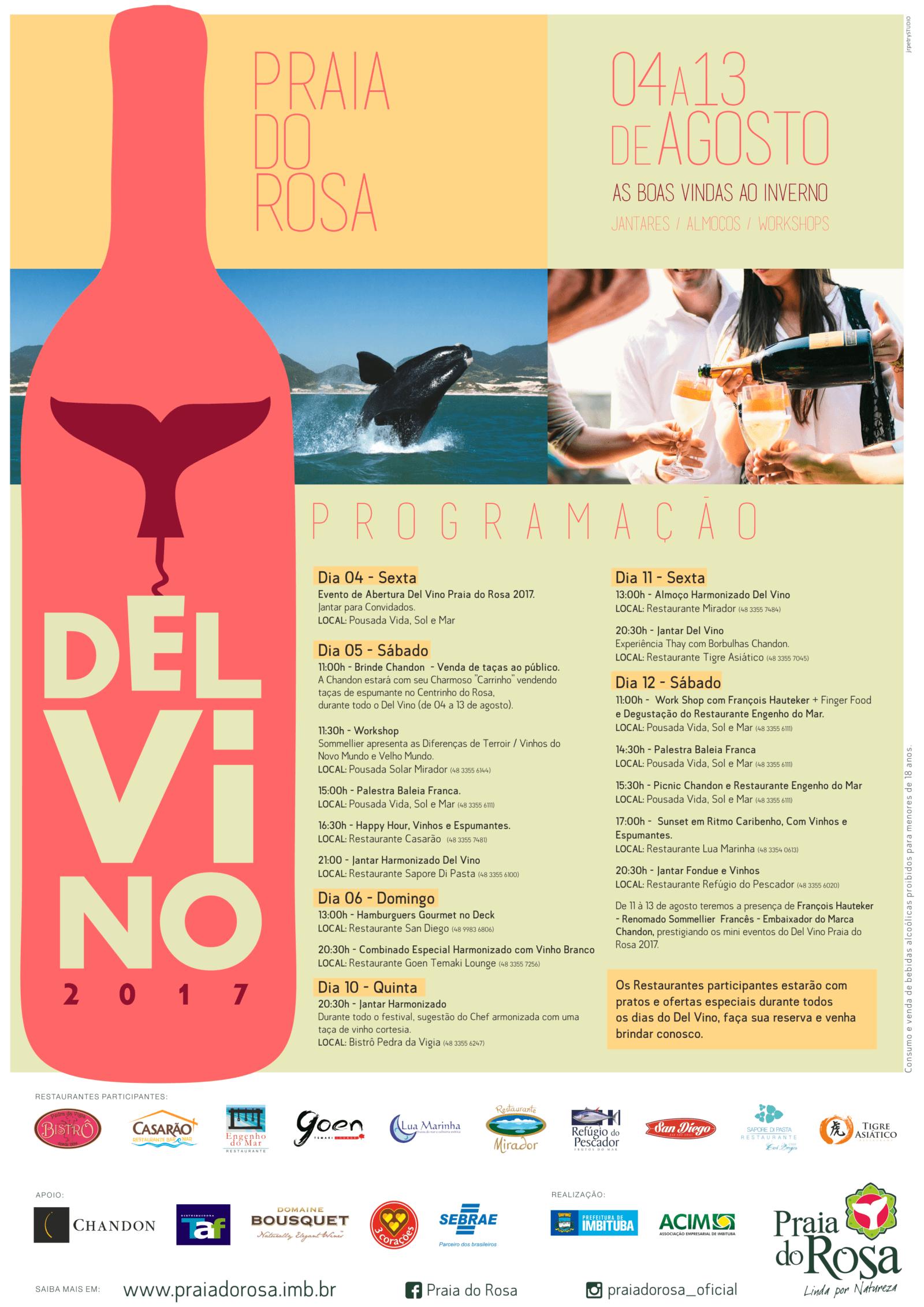 Agosto Del Vino na Praia do Rosa começa neste final de semana!
